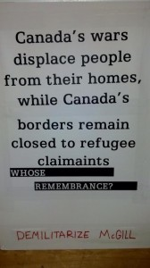 Credits: Demilitarize McGill Twitter