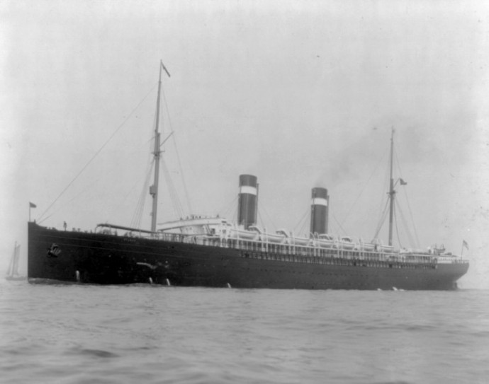 The MS St. Louis, a ship that was carrying 908 German Jewish refugees in 1939, when it was turned away by Cuba, the United States and Canada